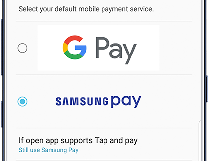 Set the default payment service