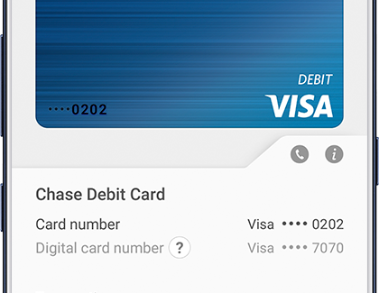 Locate the last four digits in Samsung Pay