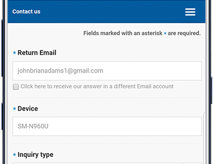 Contact Samsung Support in Samsung Pay