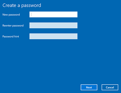 create a local password