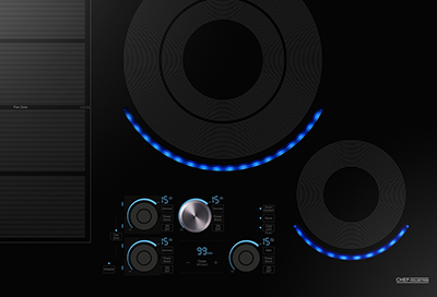 A Samsung electric induction cooktop