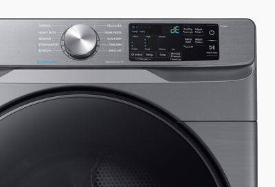 A Samsung dryer with an error code on the display