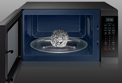 Samsung microwave with a ball of foil inside