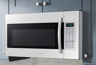 A Samsung over the range microwave
