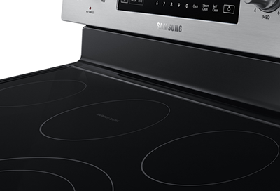 Cooktop on a Samsung electric range