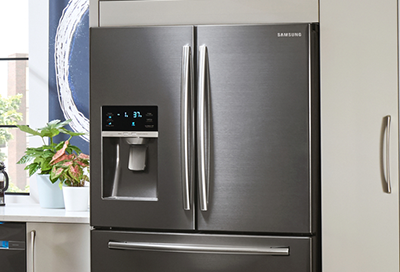 Samsung French door refrigerator in stainless steel