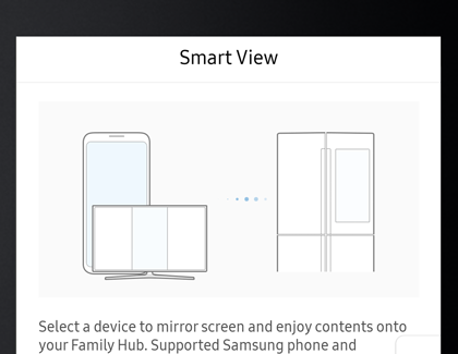 Example of the Smart View device menu
