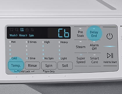 Cb displayed on Samsung Washer's control panel