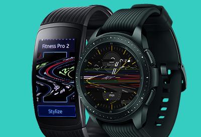 Samsung smart watch screen flickers or has horizontal lines