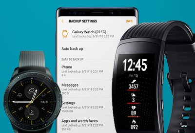 Data that can be Backed up to your Galaxy Wearable app