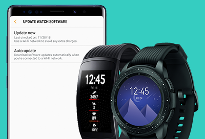 Samsung smart watch software updates