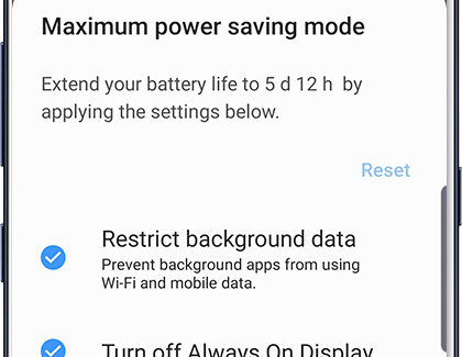 Use power saving modes on your Galaxy phone