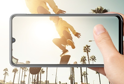 Person taking picture with Galaxy A phone