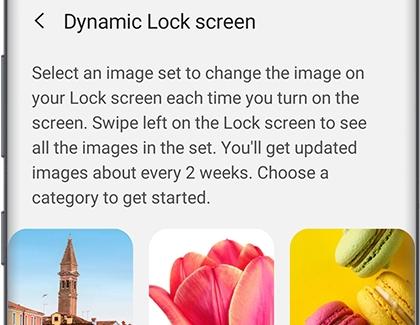 PH GN N10 Dynamic Lock screen Select category