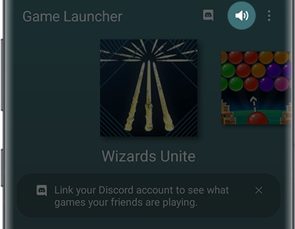 Game Launcher screen with Sound icon highlighted
