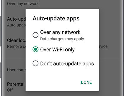 Turn on Auto-update apps in Play Store