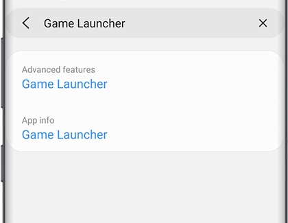 Game Launcher in search bar