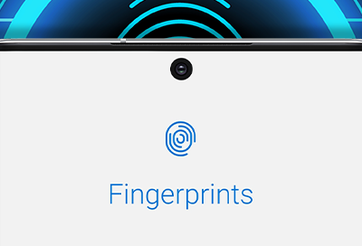 Fingerprint screen on Note10