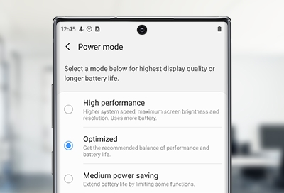 Image result for set device to high performance in galaxy note 10