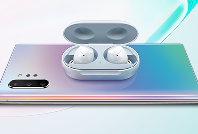 Phone Wirelessly Charging Galaxy Buds