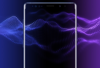 Audio Waves on the Note9