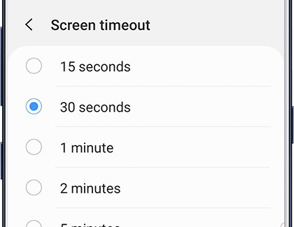 Screen Timeout on Phone