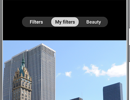 My filters selected in the Camera app