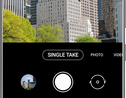 SINGLE TAKE selected in the Camera app