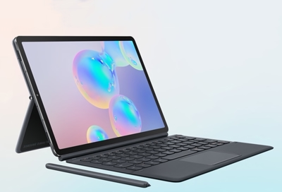 Galaxy Tab S6 with a keyboard and S-Pen