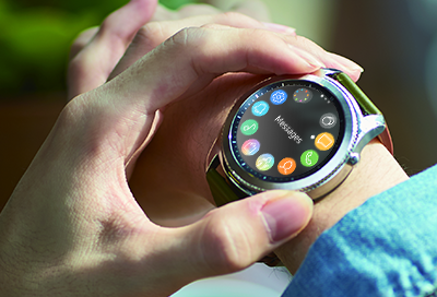 Samsung smart watch with a rotating bezel
