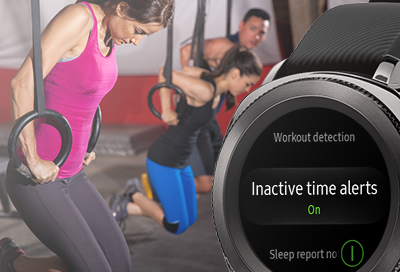 Galaxy Watch Inactive time alerts