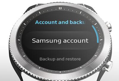 Samsung Account on the Watch