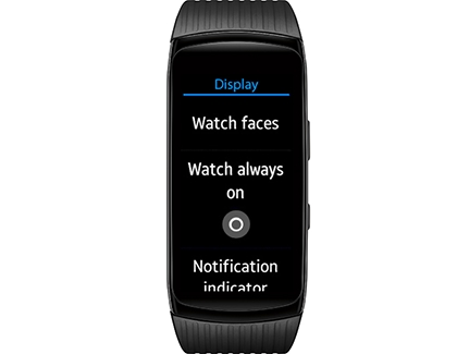 Display Settings on Gear Fit2 Pro