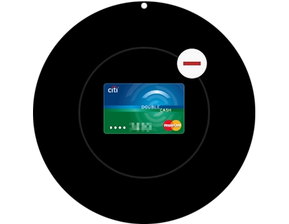 A red minus sign displayed next to a credit card