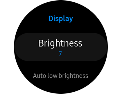 Display settings on the Galaxy Watch Active