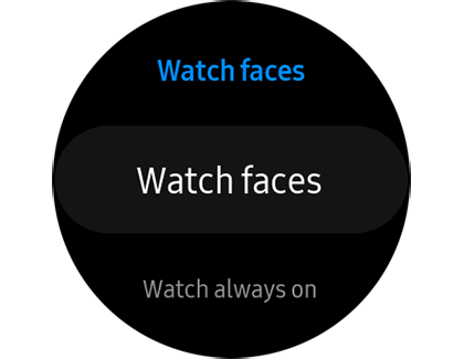 Watch faces settings on the Galaxy Watch Active