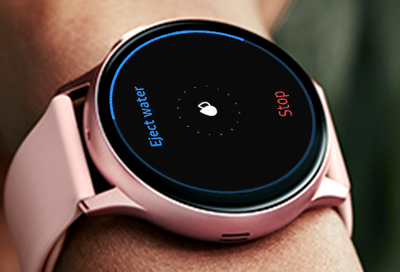 Eject water screen on Galaxy Watch Active 2