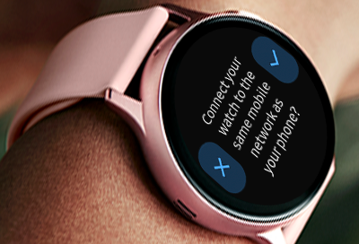 Connect Galaxy Watch Active2 to mobile network