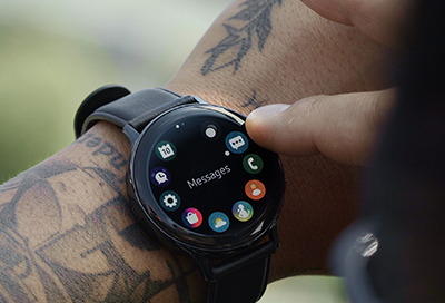 Galaxy Watch Active2 app screen showing Messages Icon