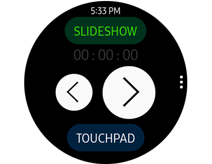 PPT Controller displayed on the Galaxy Watch Active