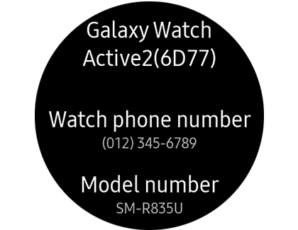 About device screen on Galaxy Watch Active2