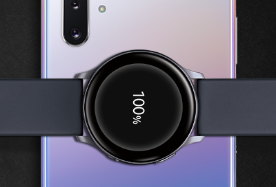 Galaxy S10  PowerShare with Galaxy Watch Active2