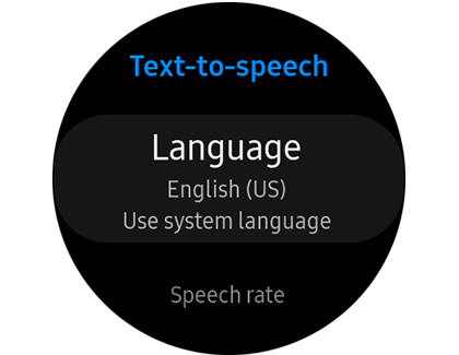 text to speech option on the Galaxy Watch Active2