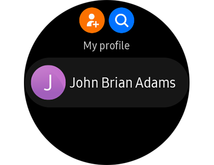 Galaxy Watch Active2 Contact Profile