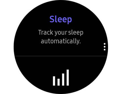 The Sleep tracker on a Samsung smart watch