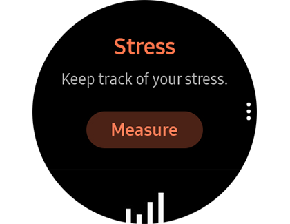 The Stress tracker with a Measure option on a Samsung smart watch