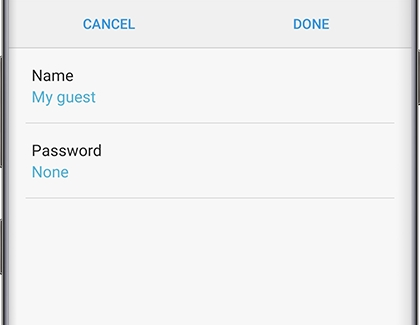 Add a guest network screen