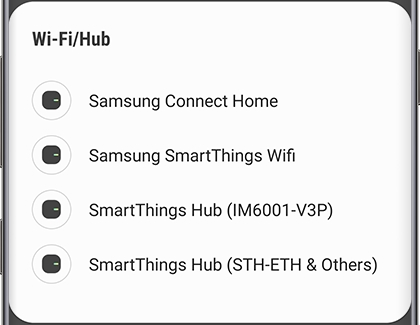 Add a Wi-Fi/Hub screen on SmartThings