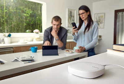 Connect Home hub in a kitchen