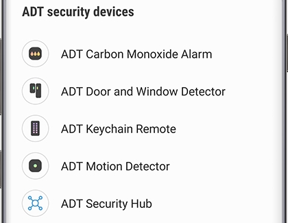 A list of ADT security devices